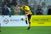 Ben Waine in action during the ISPS Handa Premiership football match between Team Wellington and Wellington Phoenix Reserves at David Farrington Park in Wellington, New Zealand on Sunday, 17 November 2019. Photo: Dave Lintott / lintottphoto.co.nz
