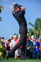 Jimmy Walker (USA) watches his tee shot on 13 during round 1 of the Honda Classic, PGA National, Palm Beach Gardens, West Palm Beach, Florida, USA. 2/23/2017.<br /> Picture: Golffile | Ken Murray<br /> <br /> <br /> All photo usage must carry mandatory copyright credit (&copy; Golffile | Ken Murray)