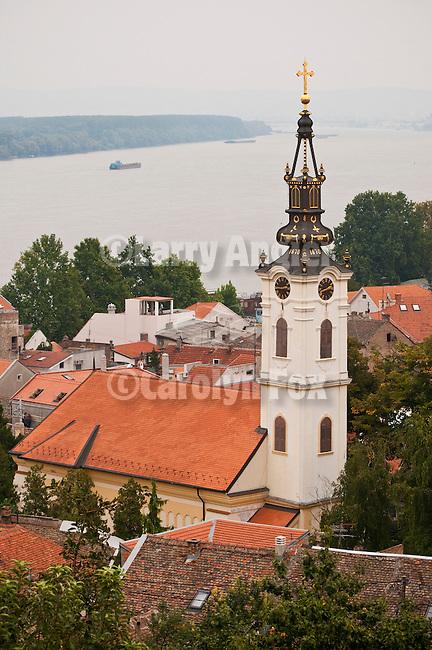 St. Nicolas Church and the Danube River, Zenum district of Belgrade, Serbia.