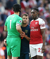 West Ham United's Jack Wilshere and Arsenal pair Petr Cech and Danny Welbeck<br /> <br /> Photographer Rob Newell/CameraSport<br /> <br /> The Premier League - Arsenal v West Ham United - Saturday August 25th 2018 - The Emirates - London<br /> <br /> World Copyright © 2018 CameraSport. All rights reserved. 43 Linden Ave. Countesthorpe. Leicester. England. LE8 5PG - Tel: +44 (0) 116 277 4147 - admin@camerasport.com - www.camerasport.com