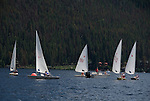 sailboats on Grand Lake, Grand Lake, Colorado, Rocky Mountains, not released