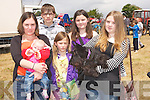no name.WALKABOUT: The Fisher Family , Castleisland on a walk about at the Kilflynn Vintage Rally in Kilflynn on Sunday, they were, Angela Fisher, Rowan Ceriys, Nadine, Larissa Fisher and they dog Cheeky.....