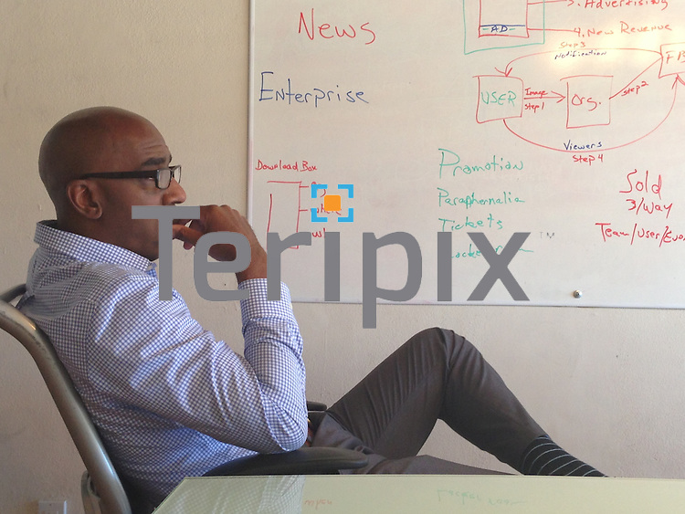 6/10/13 Lawrence Jenkins sits in a meeting at the Eventrapix office in Dallas, TX.