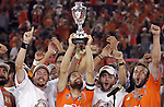 10 November 2007:  The Houston Dynamo celebrate winning the 2007 MLS Western Conference Championship.  The Dynamo defeated the Kansas City Wizards 2-0 at Robertson Stadium, Houston, Texas to capture the 2007 MLS Western Conference title and to advance to the MLS Cup championship final on Saturday, November 18th.