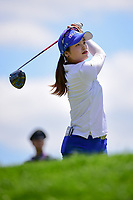 Hye-Jin Choi (a)(KOR) watches her tee shot on 2 during Sunday's final round of the 72nd U.S. Women's Open Championship, at Trump National Golf Club, Bedminster, New Jersey. 7/16/2017.<br /> Picture: Golffile | Ken Murray<br /> <br /> <br /> All photo usage must carry mandatory copyright credit (&copy; Golffile | Ken Murray)