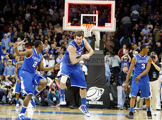 in the second half of UK's Elite 8 NCAA tournament win, 76-69, UNC at the Prudential Center in Newark, New Jersey on Sunday, March 27, 2011.  Photo by Britney McIntosh | Staff