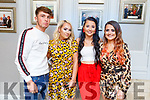 Attending the ETB Awards in the Rose Hotel on Thursday evening. L to r: Cillian Spillane, Samantha Ward, Emma Lonergan and Leanne O'Brien .