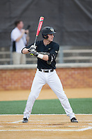 Johnny Aiello (2) of the Wake Forest Demon Deacons at bat against the Clemson Tigers at David F. Couch Ballpark on March 12, 2016 in Winston-Salem, North Carolina.  The Tigers defeated the Demon Deacons 6-5.  (Brian Westerholt/Four Seam Images)