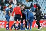 Getafe's Damian Suarez injured during La Liga match. February 27,2016. (ALTERPHOTOS/Acero)