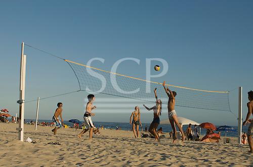 Rio de Janeiro, Brazil Leblon beach. Volleyball.