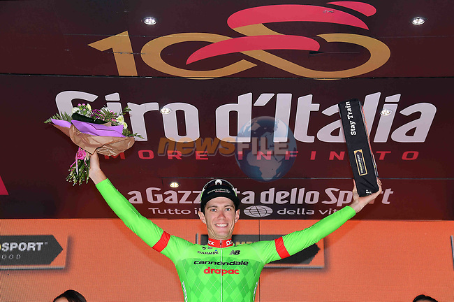 Pierre Rolland (FRA) Cannondale-Drapac wins Stage 17 of the 100th edition of the Giro d'Italia 2017, running 219km from Tirano to Canazei, Italy. 24th May 2017.<br /> Picture: LaPresse/Gian Mattia D'Alberto | Cyclefile<br /> <br /> <br /> All photos usage must carry mandatory copyright credit (&copy; Cyclefile | LaPresse/Gian Mattia D'Alberto)