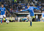 St Johnstone v FC Spartak Trnava...31.07.14  Europa League 3rd Round Qualifier<br /> Dave Mackay scores his goal<br /> Picture by Graeme Hart.<br /> Copyright Perthshire Picture Agency<br /> Tel: 01738 623350  Mobile: 07990 594431