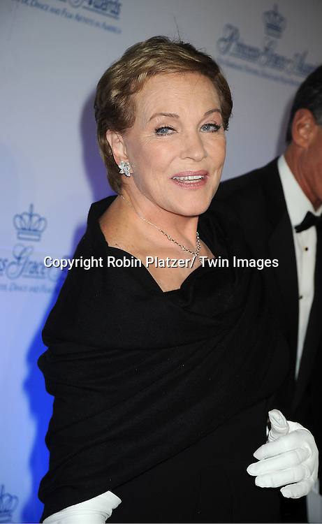 honoree Julie Andrews attends The Princess Grace Foundation Awards Gala on ..November 1, 2011 at Cipriani 42nd Street in New York City.