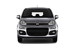 Car photography straight front view of a 2017 Fiat Panda Lounge 5 Door Hatchback Front View