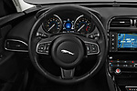 Car pictures of steering wheel view of a 2017 Jaguar XE - 4 Door Sedan Steering Wheel