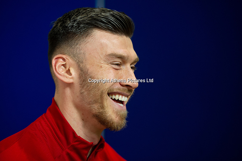 Kiefer Moore of Wales during the Wales Press Conference at St Fagans National Museum of History in Cardiff, Wales, UK. Tuesday 12th November 2019