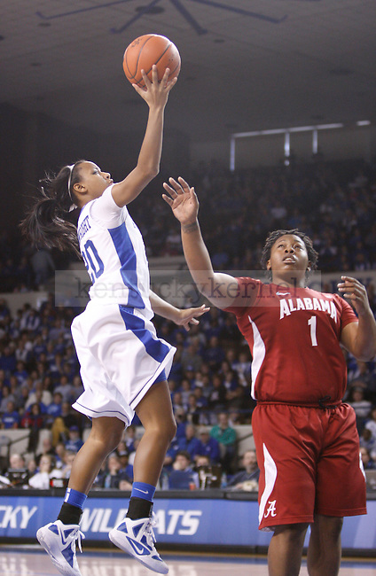 UK guard Maegan Conwright shoots the ball during the second half of the UK Women's basketball game against Alabama on 1/29/12 at Memorial Coliseum in Lexington, Ky. Photo by Quianna Lige | Staff