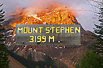 MOUNT STEPHEN NEAR FIELD B.C. CANADA