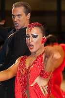 Vaidotas Skimelis and Jurga Pupelyte from USA perform in the professional latin-american competition of the UK Open Dance Championships held in Bournemouth International Centre. Organised by Dance News Special Events Ltd. Bournemouth, Great Britain, Thursday, 22. January 2009. ATTILA VOLGYI