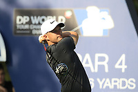 Tom Lewis (ENG) on the 16th tee during the final round of the DP World Tour Championship, Jumeirah Golf Estates, Dubai, United Arab Emirates. 18/11/2018<br /> Picture: Golffile | Fran Caffrey<br /> <br /> <br /> All photo usage must carry mandatory copyright credit (© Golffile | Fran Caffrey)