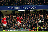 30th October 2019; Stamford Bridge, London, England; English Football League Cup, Carabao Cup, Chelsea Football Club versus Manchester United; Marcus Rashford of Manchester Utd scores for 1-2 in the 73rd minute - Strictly Editorial Use Only. No use with unauthorized audio, video, data, fixture lists, club/league logos or 'live' services. Online in-match use limited to 120 images, no video emulation. No use in betting, games or single club/league/player publications