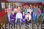 Paul McCarthy and Paula Murphy, Killarney, pictured with family and friends as they celebrated their engagement in Corkerys Bar, Killarney, on Saturday night.