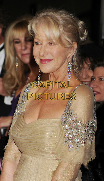 Helen Mirren.The 64th Annual Directors Guild Of America Awards at the Grand Ballroom at Hollywood & Highland Center in Hollywood, California, USA..January 28th, 2012.half length dress gold beige silver  .CAP/ROT/TM.©Tony Michaels/Roth Stock/Capital Pictures