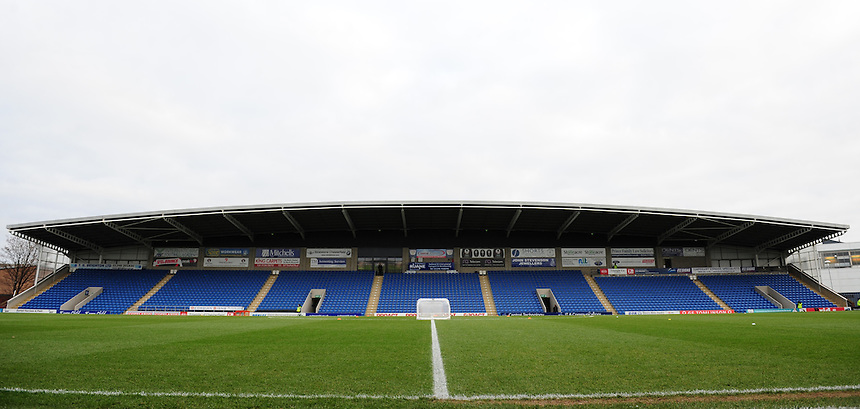 A general view of Proact Stadium, home of Chesterfield<br /> <br /> Photographer Chris Vaughan/CameraSport<br /> <br /> The Emirates FA Cup Second Round - Chesterfield v Wycombe Wanderers - Saturday 3rd December 2016 - Proact Stadium - Chesterfield<br />  <br /> World Copyright &copy; 2016 CameraSport. All rights reserved. 43 Linden Ave. Countesthorpe. Leicester. England. LE8 5PG - Tel: +44 (0) 116 277 4147 - admin@camerasport.com - www.camerasport.com