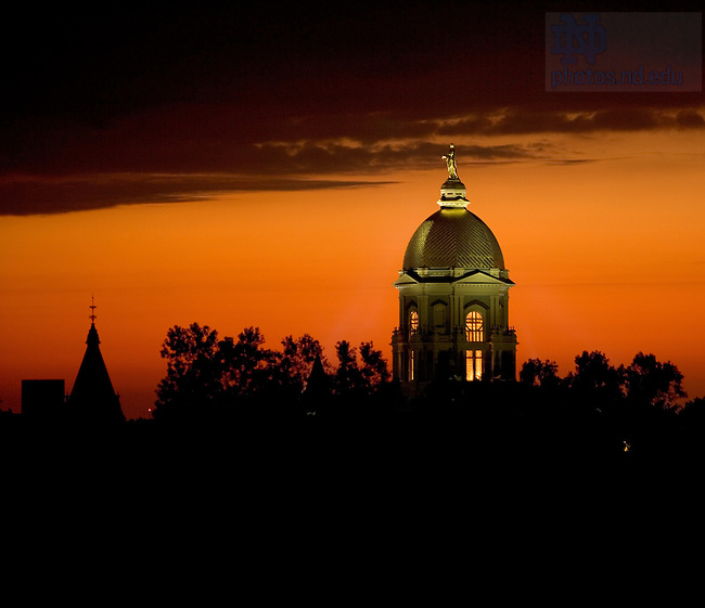 Main Building at Sunset.<br /> <br /> Photo by Matt Cashore