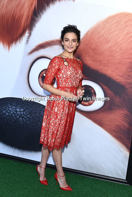 actress Jenny Slate attends the New York Premiere of &quot;The Secret Life of Pets&quot; on June 25, 2016 at David H Koch Theater at Lincoln Center in New York, New York, USA. <br /> <br /> photo by Robin Platzer/Twin Images<br />  <br /> phone number 212-935-0770