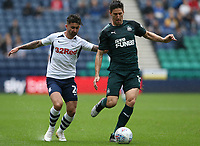 Preston North End's Sean Maguire and Newcastle United's Federico Fernandez<br /> <br /> Photographer Stephen White/CameraSport<br /> <br /> Football Pre-Season Friendly - Preston North End v Newcastle United - Saturday July 27th 2019 - Deepdale Stadium - Preston<br /> <br /> World Copyright © 2019 CameraSport. All rights reserved. 43 Linden Ave. Countesthorpe. Leicester. England. LE8 5PG - Tel: +44 (0) 116 277 4147 - admin@camerasport.com - www.camerasport.com