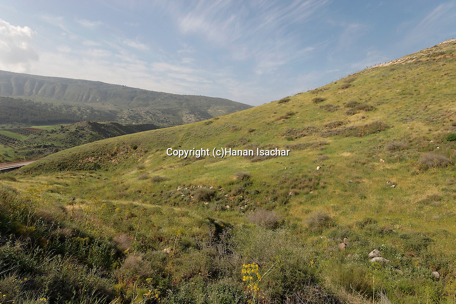 Golan Heights, a view from road 98