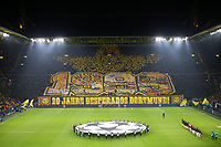 Borussia Fans <br /> Football UEFA Champions League 2019 2020, Group stage, 4 matchday, Borussia Dortmund Inter Milan, at Signal Iduna Park Dortmund Fan choreography of Dortmund fans DFL and DFB regulations prohibit any use of photographs as image sequences and or quasi video <br /> Dortmund 5-11-2019 BVB Stadion <br /> Football Uefa Champions League 2019/2020 Group F Borussia Dortmund - FC Internazionale <br /> Photo Imago/Insidefoto