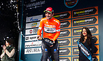 Jacopo Mosca (ITA) Wilier Triestina-Selle Italia wins the Sprinters Classification Maglia Arancione after Stage 7 of the 53rd edition of the Tirreno-Adriatico 2018 a 10km individual time trial around San Benedetto del Tronto, Italy. 13th March 2018.<br /> Picture: LaPresse/Spada   Cyclefile<br /> <br /> <br /> All photos usage must carry mandatory copyright credit (&copy; Cyclefile   LaPresse/Spada)