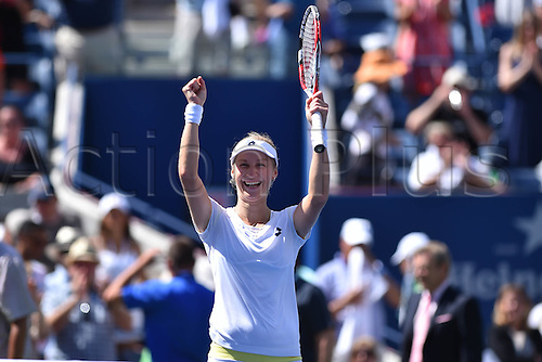 03.09.2014. New York, NY, USA. US Open Tennis tournament grand slam.  Ekaterina Makarova (rus) versus Victoria Azarenka (Bel)