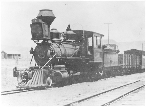 3/4 fireman's-side view of D&amp;RG #34 &quot;Royal Gorge&quot; with a mixed train at Sapinero.<br /> D&amp;RG  Sapinero, CO