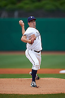 NW Arkansas Naturals pitcher Jonathan Dziedzic (12) delivers a pitch during a game against the San Antonio Missions on May 31, 2015 at Arvest Ballpark in Springdale, Arkansas.  NW Arkansas defeated San Antonio 3-1.  (Mike Janes/Four Seam Images)