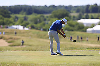 Dustin Johnson (USA) tees off the 7th tee during Friday's Round 2 of the 117th U.S. Open Championship 2017 held at Erin Hills, Erin, Wisconsin, USA. 16th June 2017.<br /> Picture: Eoin Clarke | Golffile<br /> <br /> <br /> All photos usage must carry mandatory copyright credit (&copy; Golffile | Eoin Clarke)