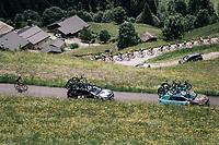 zig-zag'in up the Col du Pr&eacute;<br /> <br /> Stage 6: Frontenex &gt; La Rosi&egrave;re Espace San Bernardo (110km)<br /> 70th Crit&eacute;rium du Dauphin&eacute; 2018 (2.UWT)
