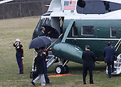 United States President Barack Obama departs Walter Reed National Military Medical Center in Bethesda, Maryland after visiting with wounded warriors on March 2, 2010. .Credit: Dennis Brack / Pool via CNP