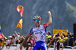 Thibaut Pinot (FRA) Groupama-FDJ wins Stage 14 of the 2019 Tour de France running 117.5km from Tarbes to Tourmalet Bareges, France. 20th July 2019.<br /> Picture: ASO/Pauline Ballet | Cyclefile<br /> All photos usage must carry mandatory copyright credit (© Cyclefile | ASO/Pauline Ballet)