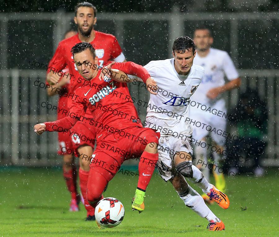 Fudbal Football Soccer<br /> UEFA Europa league-Second qualifying round, First leg<br /> Cukaricki v Grodig Austria<br /> Slavoljub Srnic (R)<br /> Beograd, 07.17.2014.<br /> foto: Srdjan Stevanovic/Starsportphoto &copy;