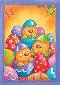 Ioannis, EASTER, paintings, 3 chicken, eggs(GRPO682/E,#E#)