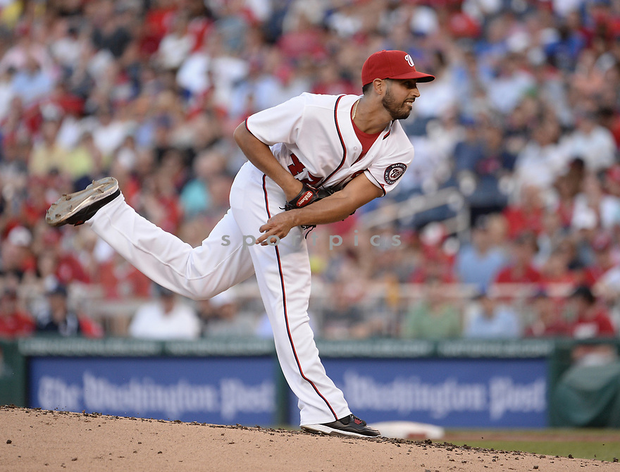 Washington Nationals Gio Gonzalez (97) during a game against the Chicago Cubs on June 14, 2016 at Nationals Park in Washington, DC. The Cubs beat the Nationals 4-3.