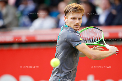 David Goffin (BEL), <br /> OCTOBER 5, 2017 - Tennis : <br /> Rakuten Japan Open Tennis Championships 2017 <br /> Singles 2nd round match <br /> at Ariake Coliseum, Tokyo, Japan. <br /> (Photo by Yohei Osada/AFLO SPORT)