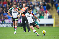 Ben Botica of Harlequins takes a penalty kick during the Aviva Premiership match between London Irish and Harlequins at the Madejski Stadium on Sunday 28th October 2012 (Photo by Rob Munro)