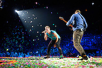 AUBURN HILLS, MI - AUGUST 1: Coldplay in concert at The Palace of Auburn Hills in Auburn Hills, Michigan. August 1, 2012. Credit MediaPunch Inc. /NortePhoto.com<br />