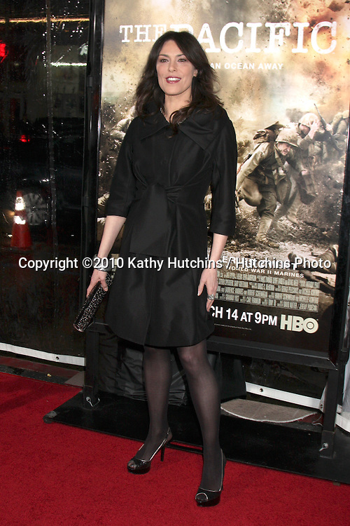 "Michelle Forbes.arriving at HBO's ""The Pacific"" Premiere Screening .Mann's Chinese Theater.Los Angeles, CA.February 24, 2010.©2010 Kathy Hutchins / Hutchins Photo...."