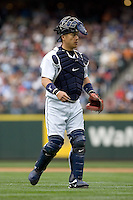 July 23, 2008: Seattle Mariners catcher Kenji Johjima during a game against the Boston Red Sox at Safeco Field in Seattle, Washington.