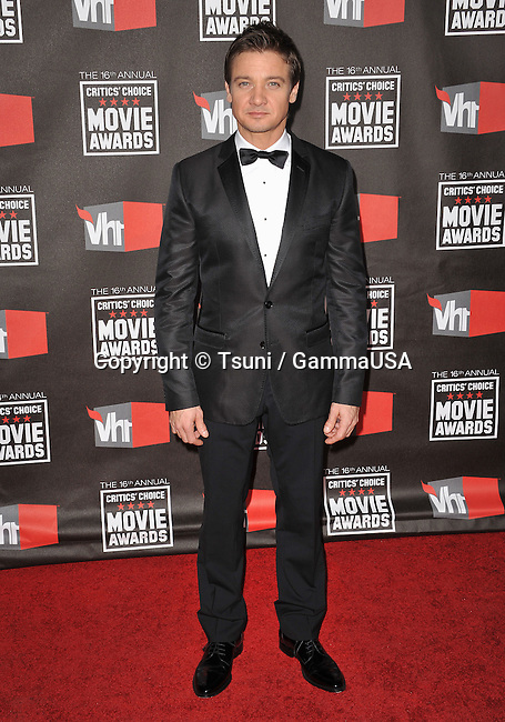 Jeremy Renner - 16th Ann. Critic's Choice Movie Awards at the Hollywood Palladium in Los Angeles.